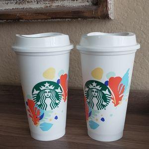 🌟Starbucks 16oz Reusable Cups.